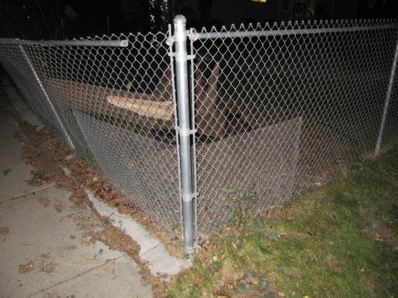 Kaysville windstorm bent post cleanup