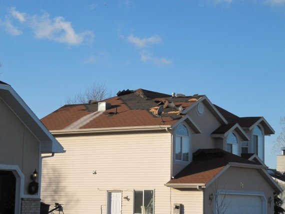 Kaysville windstorm lost shingles