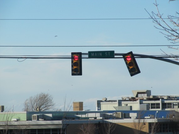 Kaysville windstorm skewed traffic lights