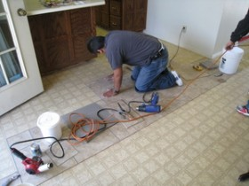 Laying Permastone tile