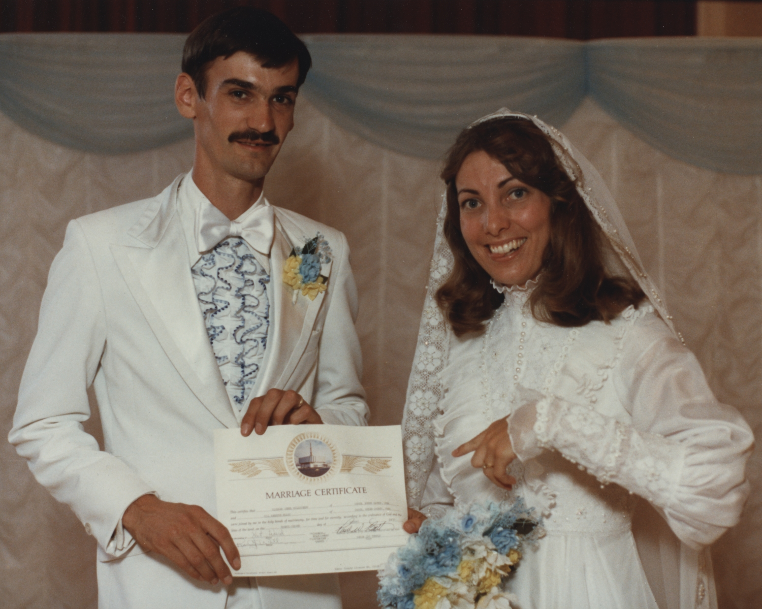Rick and Jill marriage certificate