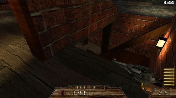 DawnFort Red Brick House Stairs