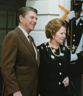 Margaret Thatcher visiting Ronald Reagan at The White House